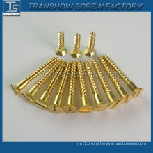 China Factory DIN7997 Brass Wood Screw
