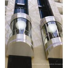 Sicherer 630kg Glaspanoramischer Aufzug