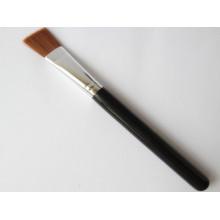 Pincel de fundação de cobre com forma de ângulo