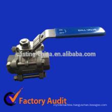 casting 304/316/321/water/gas/oil 3-piece stainless steel ball valve