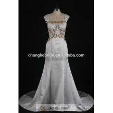 Robe de mariée en sirène royale Robe de mariée en satin doré en or 2017