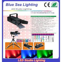 200W cool/warm white/rgbw studio led spotlight zoom beam degree