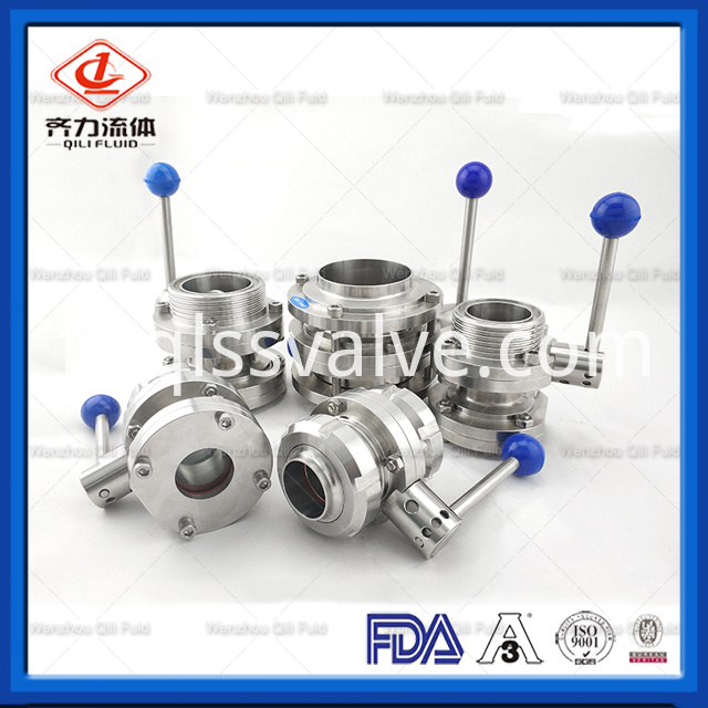 Sanitary Stainless Steel Butterfly Valve 173