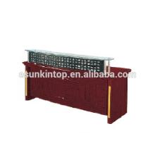 Glass reception desk for office used, Foshan office furniture manufacturer (T4831)