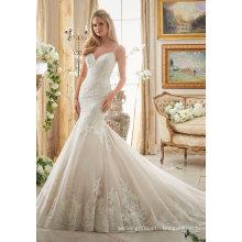 Sexy Lace Garment Clothes Mermaid Bridal Gown Wedding Dress (2871)