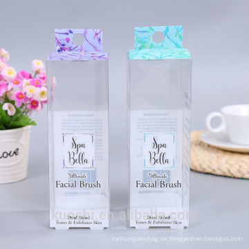 Customizd Make-upbürste transparenter Plastik mit Fall-Loch PET-PVC-Verpackungskasten