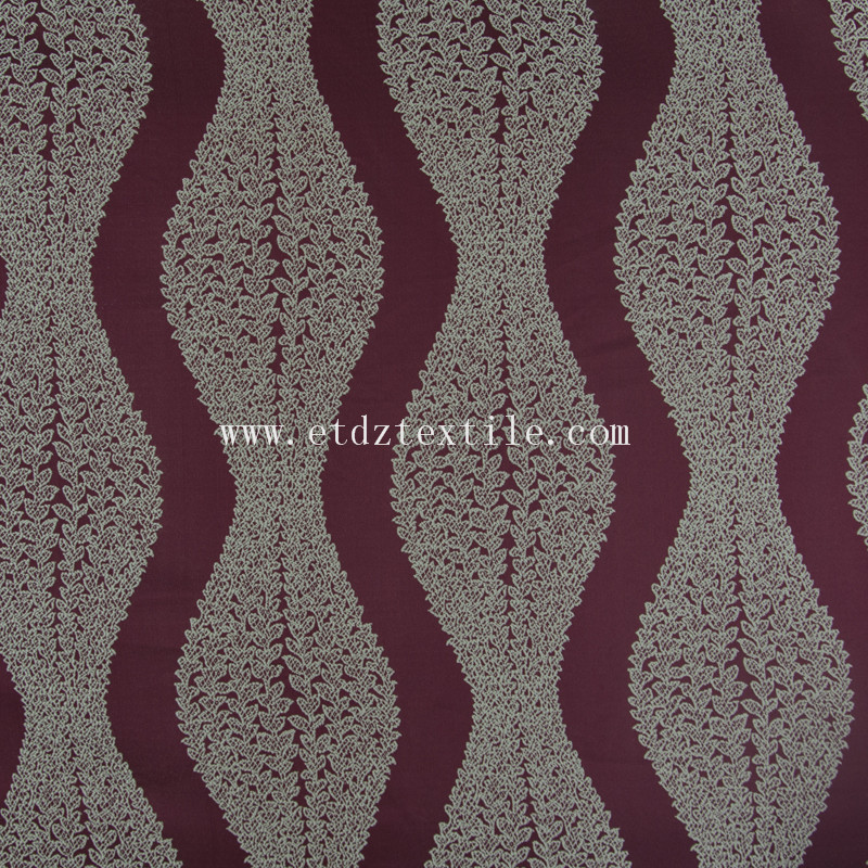 Typical Polyester Yarn Dyed Curtain Fabric GF028 Red
