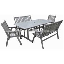 Meranti Muebles de jardín / al aire libre - Mesa + silla y banco