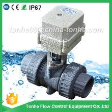 "Ce IP67 2 vias 3/4 ""polegadas atuador elétrico PVC motorizado válvula de esfera"