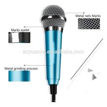 Último microfone de smartphone mini Microfone de condensador com fio portátil para telefone celular para tablet PC
