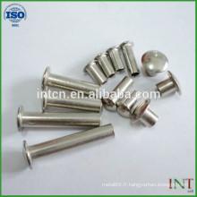 rivets tubulaires d'acier tête ronde