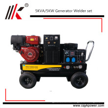 High Quality portable gasoline welding machine air compressor generator with 12V electric starter