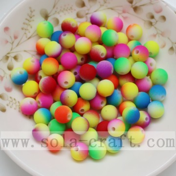 Colorful Rainbow Dual Solid Color Jewelry Acrylic Beads