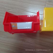 Cheap plastic box wall mounted plastic storage bin for supermarket Shelf