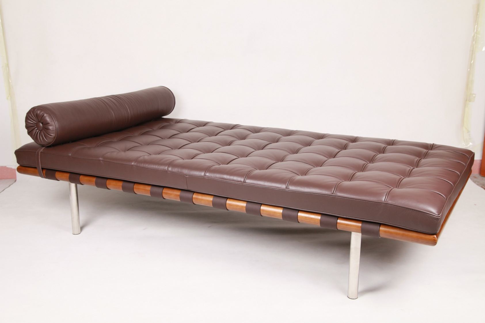 wood frame leather Daybed