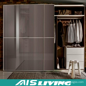 Laminate Bedroom Furniture Sliding Door Wardrobe Closet (AIS-W512)