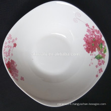 popular hot sale Square porcelain fruit plate, deep plate