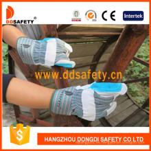 Guante de cuero azul reforzado Dlc327