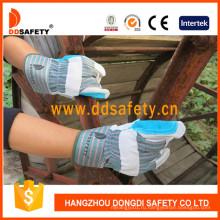 Усиленная синяя кожаная перчатка Dlc327