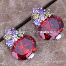 turkey fashion design ruby stud earrings