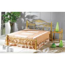 Pintura de oro Dormitorio / Hotel Muebles Cama de metal (602 #)
