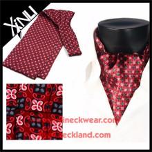 Laço de seda do lenço da cópia feita sob encomenda dos cavalheiros do produto novo