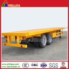 Double Axles 40ft Flatbed Container Semi Trailer