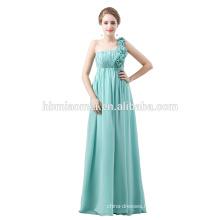 In-Stock Sleeveless Long Elegant Dress Full-Length Sleeveless Blue Chiffon Evening Dress