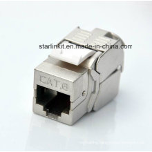 CAT6 Shielded FTP Tooless Keystone Jack with 180 Degree