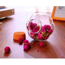 Design créatif Verre en verre Forme de fleurs Verre Jar Poubelles de citrouille