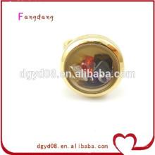 Dongguan Mode Großhandel Medaillon Charms Ring / Edelstahl-Ring