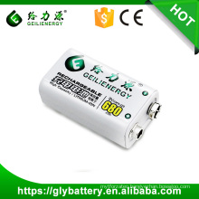 li-polymer 680mah rechargeable 9v li-ion battery