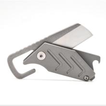 Canivete Minimalista Minimalista Dobrável de Titânio