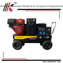 5.5kw electric Slient diesel welder generator air compressor with gasoline engine air compressor made in China
