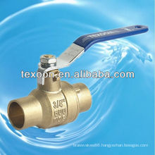 Solder full port brass ball valves fully welded with lead free (sweat*sweat)
