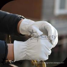 SRSAFETY Высококачественная свинцово-перламутровая кожаная перчатка