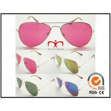 Classique et à vendre pour les lunettes de soleil en métal unisexe (WSM503001)