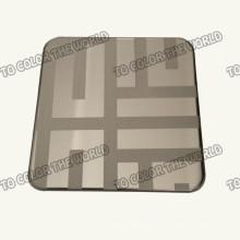 430 Edelstahl Ket006 geätzten Blatt für Dekorationsmaterialien
