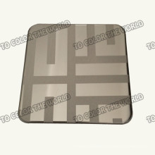 430 Stainless Steel Ket006 Etched Sheet for Decoration Materials