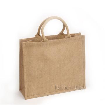 Стильная индивидуальная джутовая сумка для покупок (hbju-137)