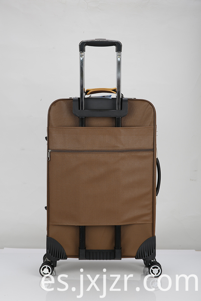 Pu Luggage Sets Leather Boarding