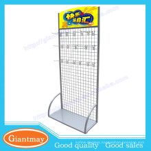 powder coated hanging flooring gridwall panel socksdisplay rack
