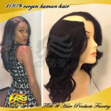 Осенью 2014 новый стиль бразильский человеческих волос волнистые U часть парик