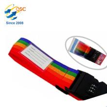 Étiquette en nylon d'adresse de ceinture de valise de courroie de bagage de fibre de polypropylène de devoir
