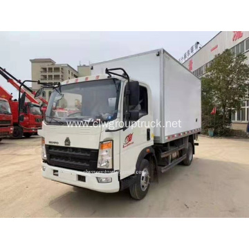 HOWO refrigerated truck with tipper fuction