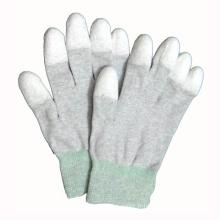 Gants en polyester / nylon en caoutchouc PU