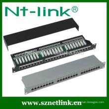 STP 24 porta cat5e rj45 painel de patch inteligente