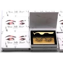 CH01 Hitomi Hot Sale Natural false eyelash Synthetic Fiber 4d Faux Silk Mink Eyelashes with paper eyelash packaging