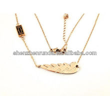 China wholesale high quality fashion necklace with feather for women