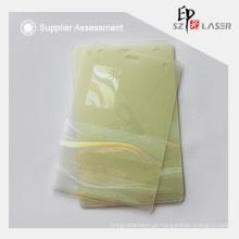 Bolsas Custom logotipo calor selado holográfico laminado transparentes